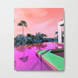 Pool Weekend Metal Print