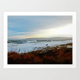 Sainte-Anne-Des-Monts and the Surf Art Print
