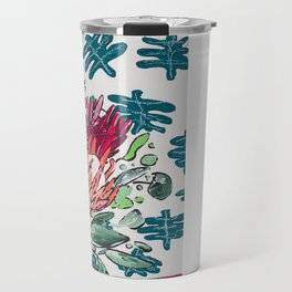 Bouquet of Proteas with Matisse Cutout Wallpaper Travel Mug