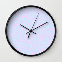 memphis Wall Clocks featuring Memphis by Nowherelandlabel