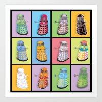 dalek Art Prints featuring Dalek Dreams by Megs stuff