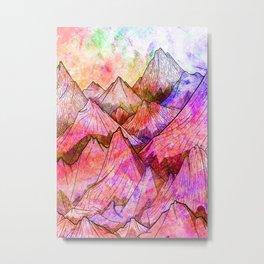 Peaks of Colours Metal Print