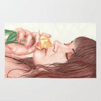 perfume Area & Throw Rugs featuring Sweet Perfume  by aurelia-art