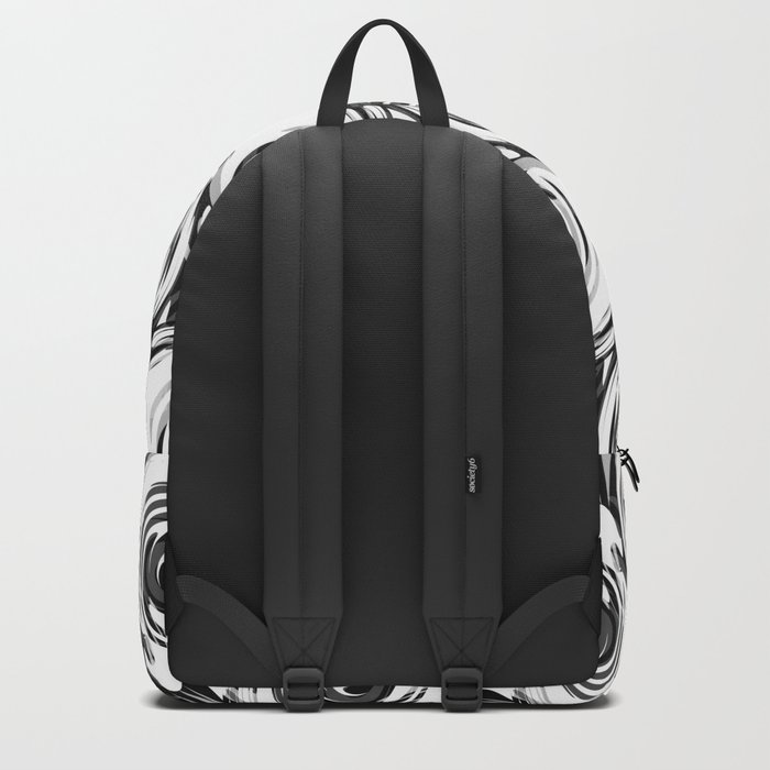 Abstract pattern in black and white tone. Backpack