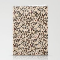 bicycles Stationery Cards featuring Bicycles by Mario Zucca