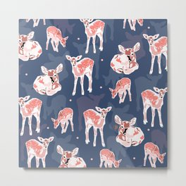 Little deers pattern Metal Print