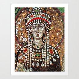 Byzantine Empress Saint Theodora of the Roman Empire Art Print