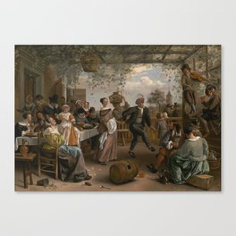 Jan Steen The Dancing Couple 1663 Painting Canvas Print