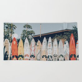 lets surf xv Beach Towel
