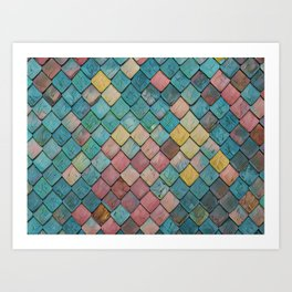 Magic Dragon Scales Art Print
