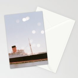 Boats and Bokeh - 35 mm film double exposure photograph Stationery Cards