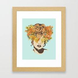 Tropical Lady Framed Art Print