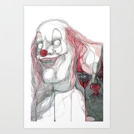 The Clowns Art Print