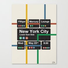 Filligar live in New York Canvas Print