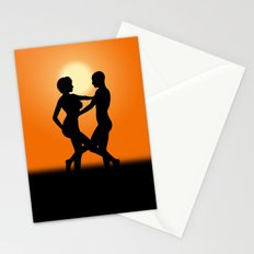 Sunset Dancing Lovers Stationery Cards