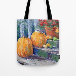 Pumpkins & Geraniums Tote Bag