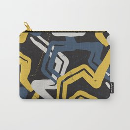 Mustard lines Carry-All Pouch