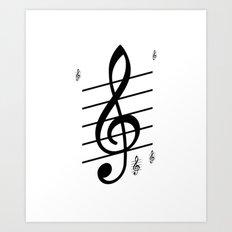 der Schlüssel zum Herz ist die Melodie   (A7 B0022) Art Print