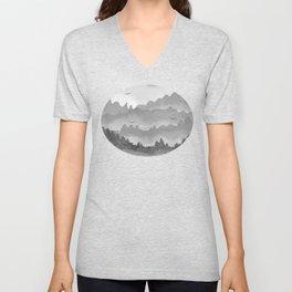 misty mountains - grey palette Unisex V-Neck