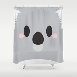 Koala Block Shower Curtain