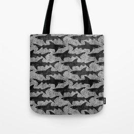 Gray and Black Shark Pattern Tote Bag