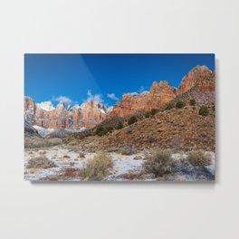 Zion Winter - 4724 Panorama Metal Print