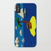 low poly iPhone & iPod Cases featuring Low-Poly Treasure Island by Jorge Antunes