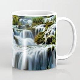 Krka Waterfall Landscape No. 2, Croatia Coffee Mug