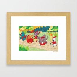 """Go the Distance"" - Safari Run Framed Art Print"