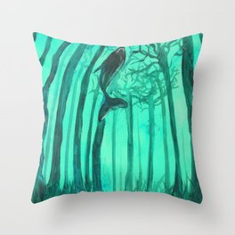 Moby´s Forest - Mint Green Throw Pillow