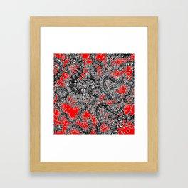 Centipede party Framed Art Print