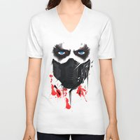 bucky barnes V-neck T-shirts featuring Bucky Barnes by akaori_art