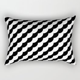 KUROSHIRO DIAGONAL WAVES BLACK AND WHITE Rectangular Pillow