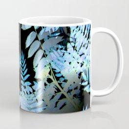 Seamless Blue Leaves Coffee Mug