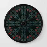 cyberpunk Wall Clocks featuring Crucible by Obvious Warrior