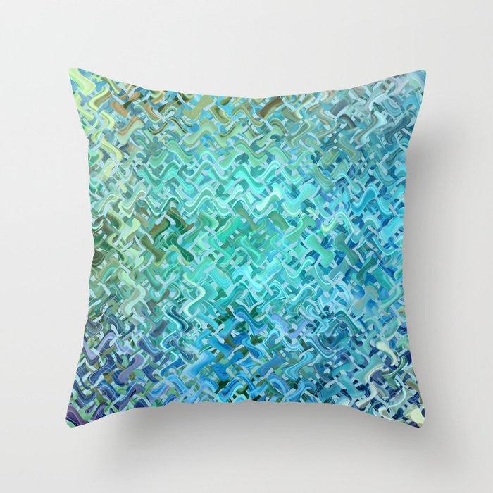 Pattern bluegreen Deko-Kissen