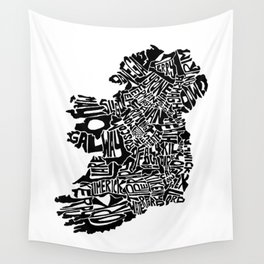 Typographic Ireland Wall Tapestry