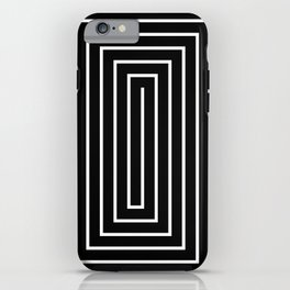 Black White Spiral iPhone Case