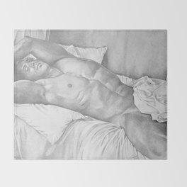 Sleeping Nude Throw Blanket