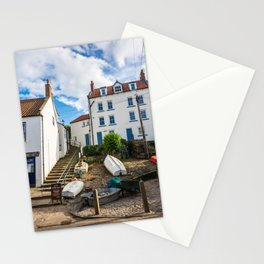 Sunny streets of Robin Hood's Bay, England Stationery Cards
