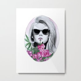 Flower sipping flowers Metal Print