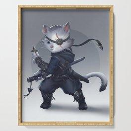 Ninja cat Serving Tray