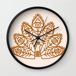 Cosmic Peacock Wall Clock