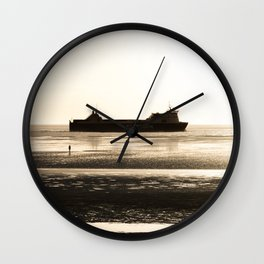 Watching the ships go by Wall Clock
