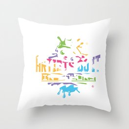 Artists Do It In Color Cute for Artists Throw Pillow
