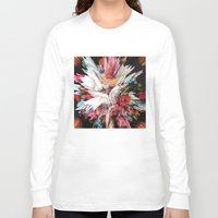 glitch Long Sleeve T-shirts featuring Floral Glitch II by Kate Tova