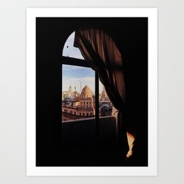 City view from my window in Buenos Aires Art Print