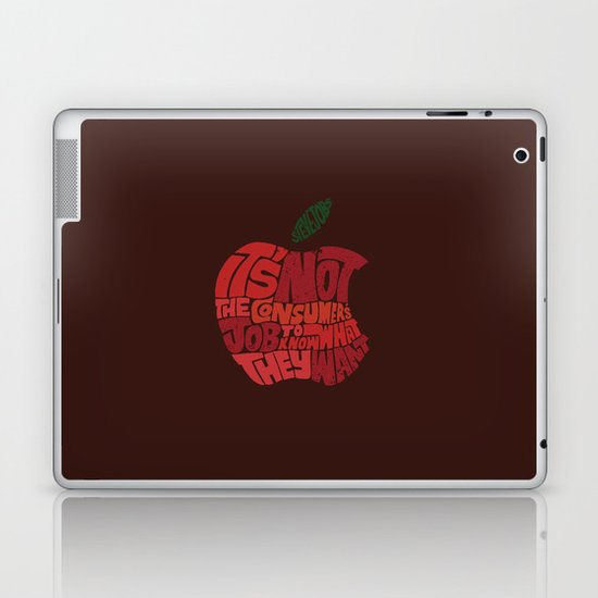 Steve Jobs on Consumers Laptop & iPad Skin