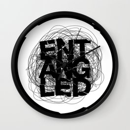 Entangled Logo Wall Clock