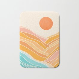 Adventure On The Horizon / Abstract Landscape Bath Mat